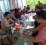 Tenaga Pendidikan Lppm Universitas beserta beberapa pihak dari LPDP yang menghadiri penandatangankontrak kerjasama